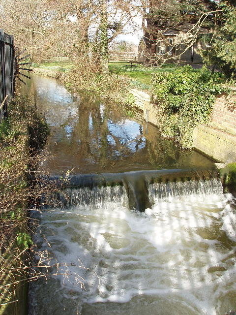 Weir on River Colne, Stanwell Moor