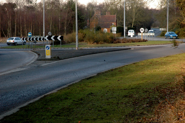 Roundabout at junction of A149 and B1440