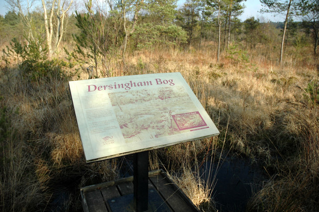 Notice on the board walk, Dersingham Bog