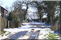 SJ6582 : Beware! Snowman crossing by David Long