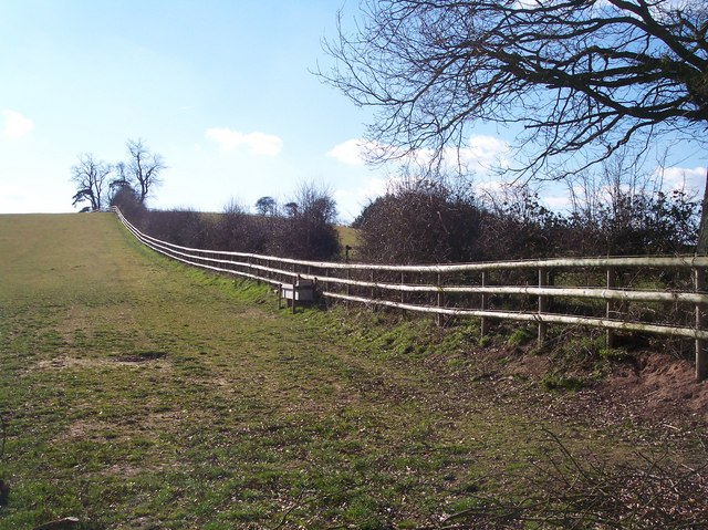 Post and Rail Fencing near Crossington Farm