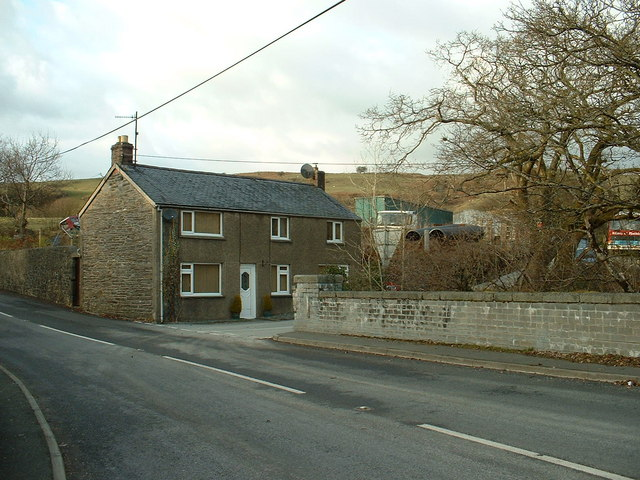 House & Transport Yard at Bont Newydd