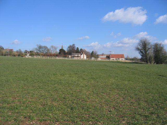 Wixford church house and church
