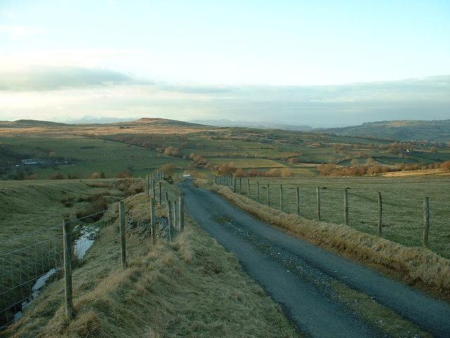 Unclassified road near Pen y Bryn