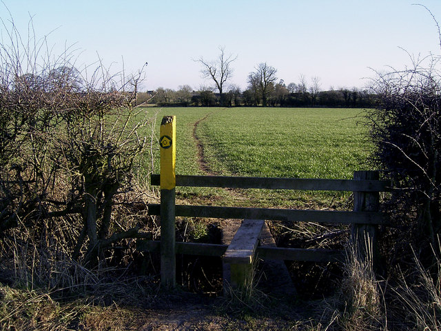 "The ""Leicestershire Round"" footpath near Carlton"