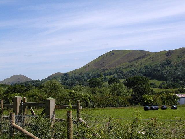 Farmland on the northern edge of Church Stretton