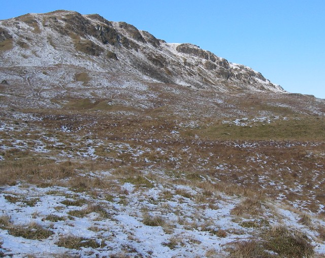 SW side of Creag nam Bodach