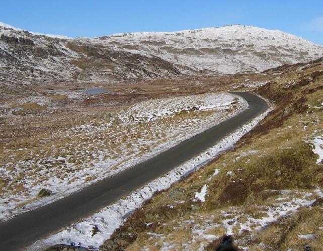 The road that links Glen Lyon to Glen Lochay