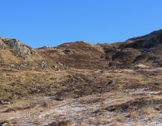 Western approach to Meall nan Subh