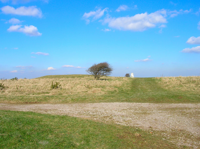 Tumulus and Trig, Bourne Hill