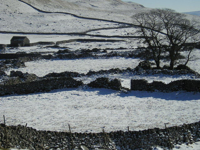 Dry stone walls near Middle House Farm