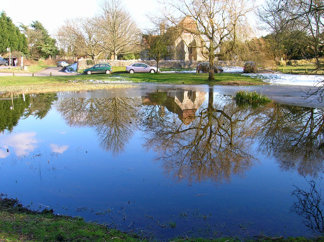 Village pond, Friston