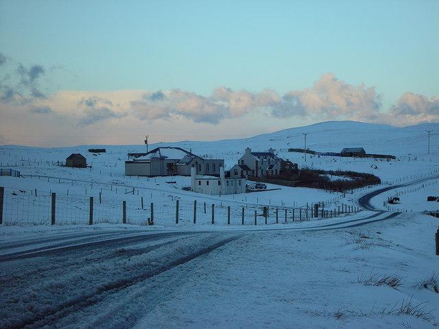 Former School and Schoolhouse, Livister, Whalsay, Shetland