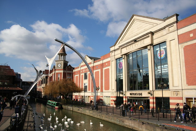 The Waterside shopping complex in Lincoln City Centre