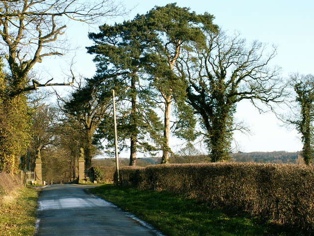 The entrance to Isle Lane, Bicton