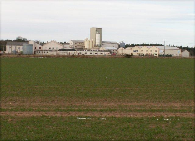 Quaker Oats plant by Cupar