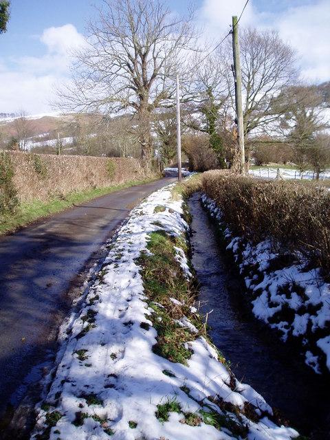 Stream near Pentre-coch