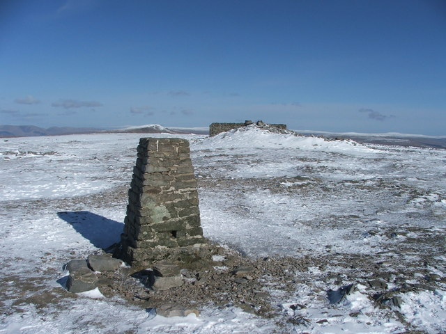 Ingleborough summit.