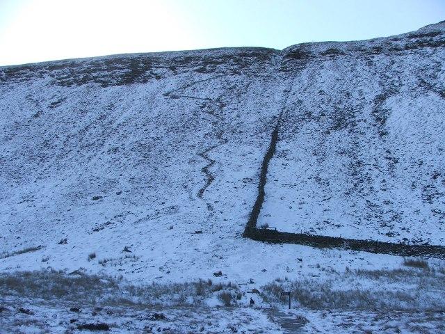 The climb from Humphrey Bottom.