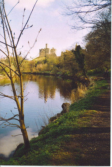 River Coquet and Warkworth Castle.
