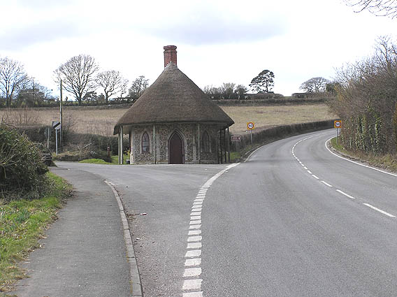 Old thatched toll house on A30 west of Chard