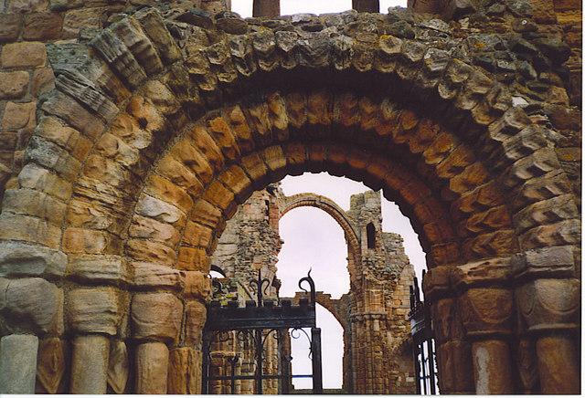 "Norman Doorway and ""Rainbow Arch"", Lindisfarne."