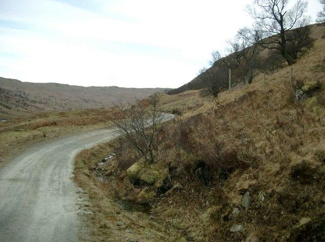 The track up Glen Finglas