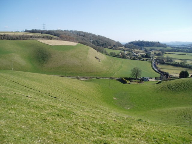 Looking east from Park Hill, East Meon