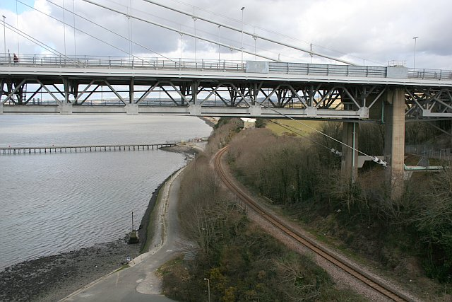 Tamar Road Bridge and Gunnislake Branch Line