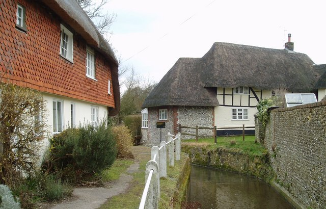 Cottages by the River Meon in East Meon