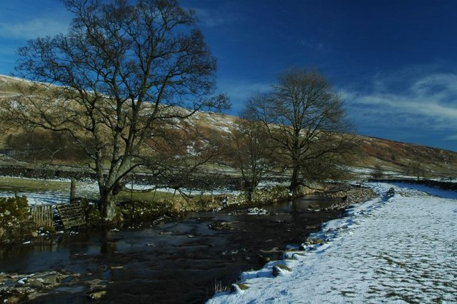 River Skirfare passing through Halton Gill