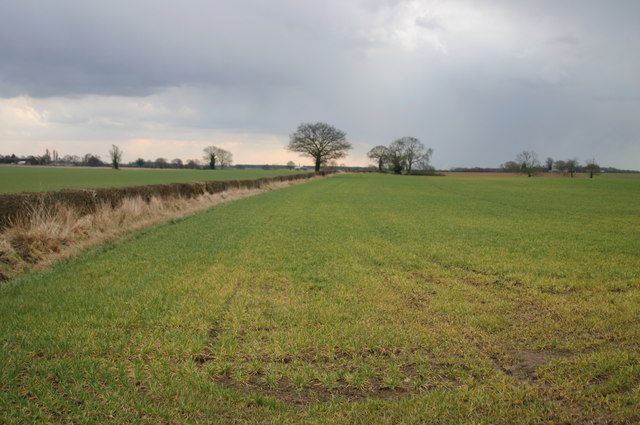 Approaching Snowstorm over Hutton Sessay Farmland