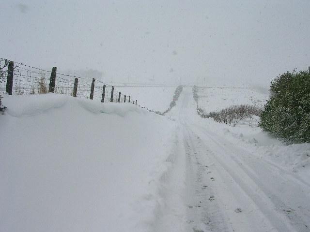 Drifting snow near Aberdeen