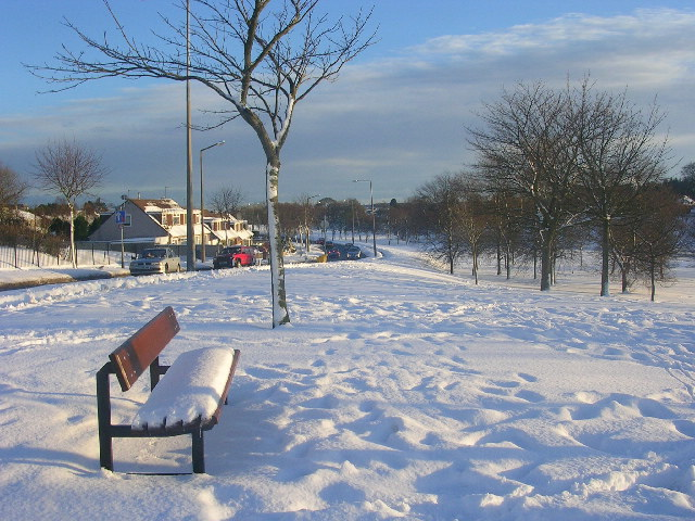 Snow at Stronsay Drive, Aberdeen