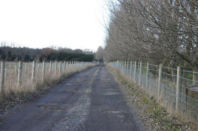Lane to Manor Farm, Waplington