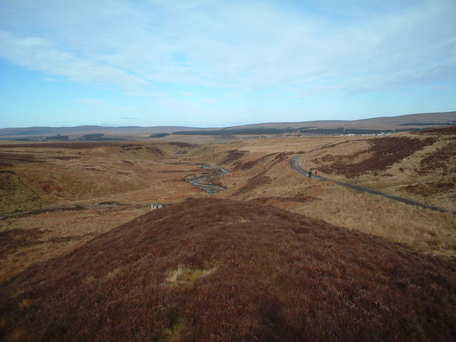 Garpel Water and Sanquhar track