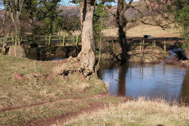 Footbridge and ford, Vale of Ewyas