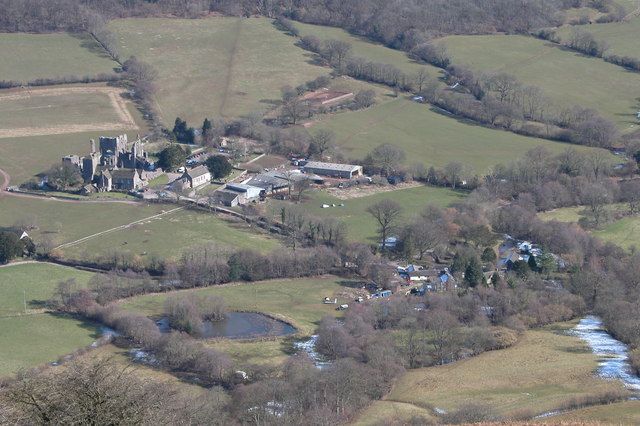 Llanthony viewed from the west