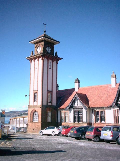 Clock Tower at Weymss Bay Railway Station