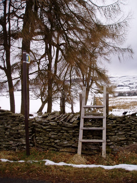 Stile over Dry Stone Wall