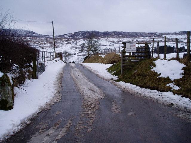 Road to Hafod yr Esgob