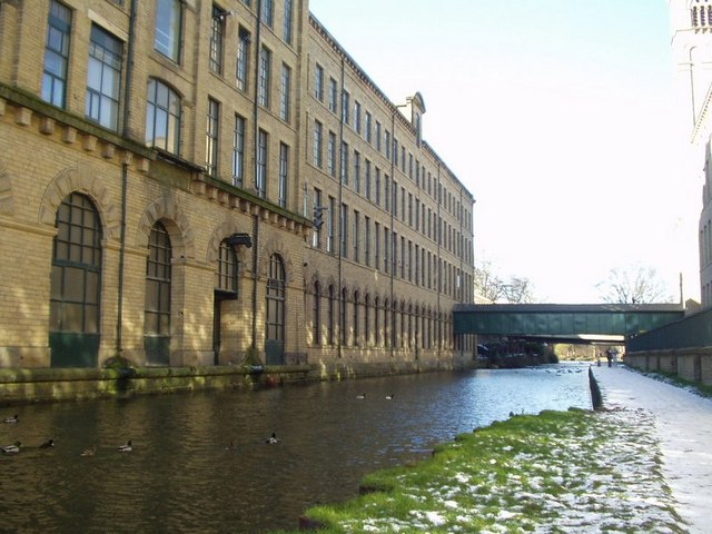 Salt's Mill from the canal, Saltaire