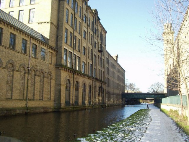 Salts Mill from the Leeds and Liverpool Canal