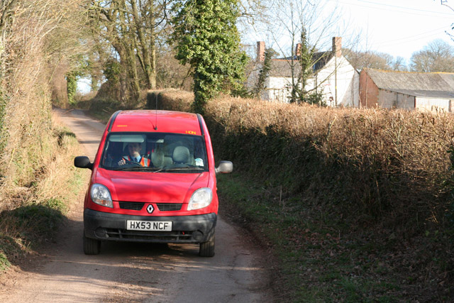 Payhembury: post van near Milton