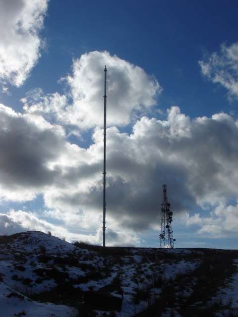 TV mast on Winter Hill
