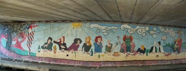 Canalside Mural, Shipley Bridge
