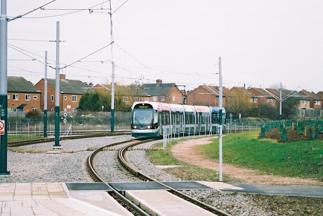 Tram at Highbury Vale, Nottingham
