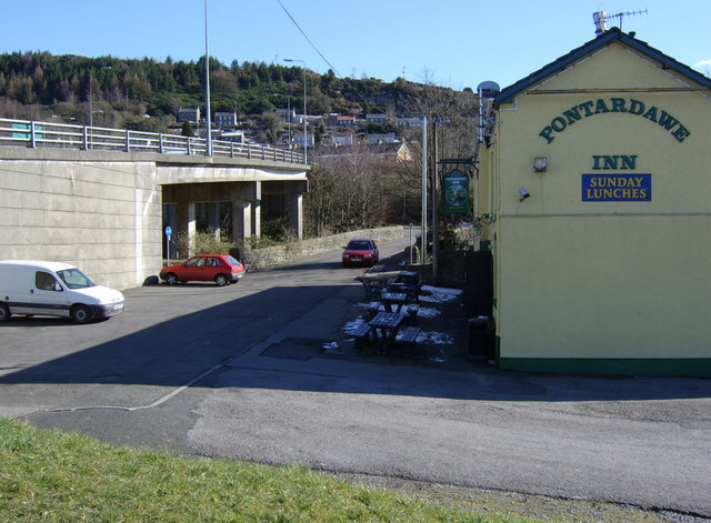 The old bridge at Pontardawe