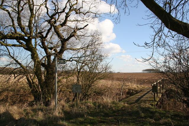 Otby Moor footpath