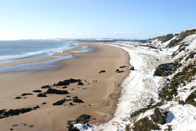 St Cyrus Beach in March